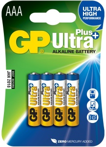 Alkalická baterie GP Ultra Plus 4ks AAA